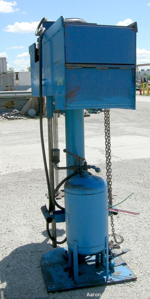 "Used- Disperser, 2"" diameter x 42"" long tapered 17-4PH stainless steel shaft with a 12"" diameter carbon steel sawtooth blade..."
