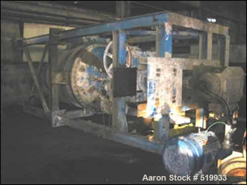 """USED: 1300 gallon Pat-L tank mounted co-axial mixer, carbon steel construction. 6' diameter x 5'6"""" straight side, removable ..."""