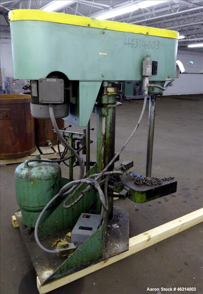 """Used- Schold Single Shaft Variable Low Speed Disperser, Model 10 VLS. Approximately 2-1/2"""" diameter x 39"""" long carbon steel ..."""