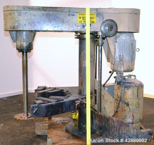 "Used- Schold Variable High Speed Disperser, Model 30 VHS. Approximately 3'' diameter tapered carbon steel shaft with a 14"" d..."