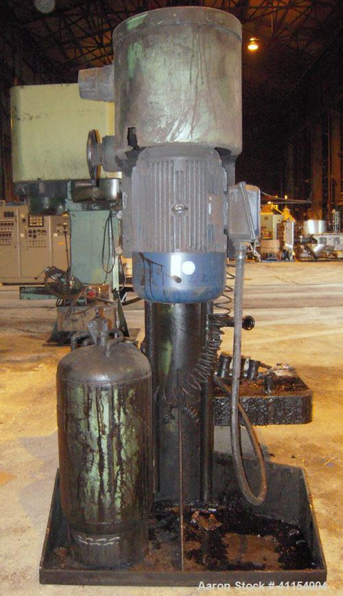 "Used- Schold Co-Axial Single Motor Variable Speed Disperser, Model 50. 48"" long shaft with a sawtooth blade, speed range 100..."