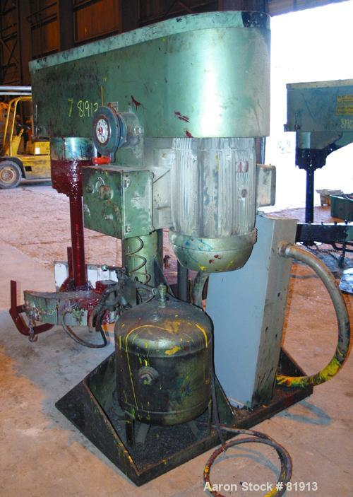 "USED: Schold Co-Axial Single Motor Variable Speed Disperser, model 50. (1) 3-3/4"" diameter x 32"" long shaft with a 12"" sawto..."