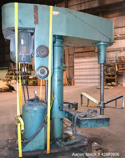 "Used- Schold Dual Drive Co-Axial Disperser, Model VHLS. (1) Approximately 3-3/4'' diameter x 58"" long carbon steel shaft wit..."