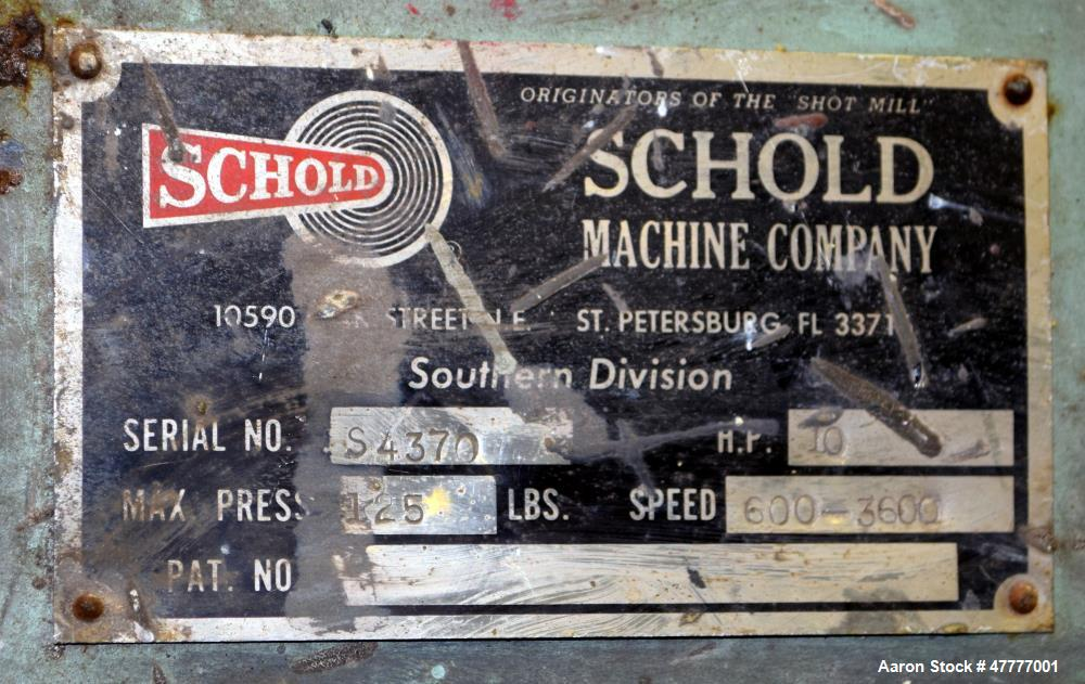 Used- Schold Variable High Speed Disperser, Model VHS 300.