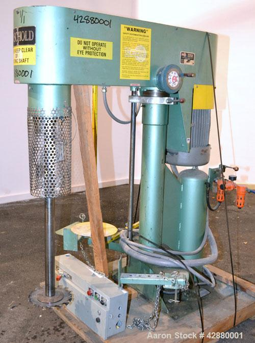 "Used- Schold Variable High Speed Disperser, Model VHS 400. Approximately 2-3/16'' diameter x 38"" long 304 stainless steel sh..."