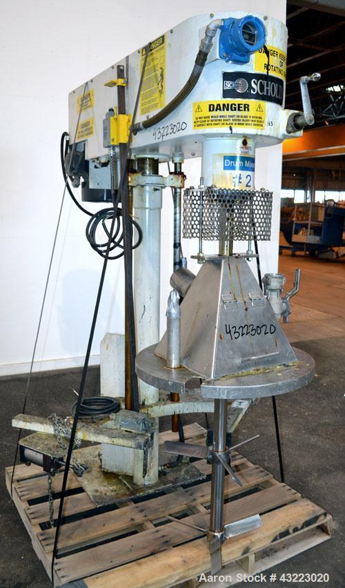 Used- Schold Single Shaft Variable Low Speed Disperser, Model VLS 300