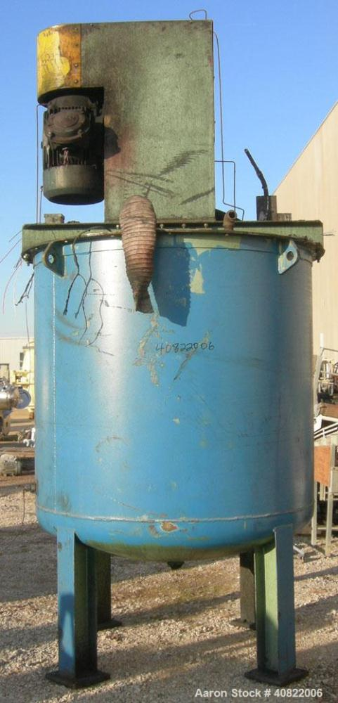"Used- Schold Tank Mount Disperser, 3 1/2"" diameter shaft with a 20"" diameter sawtooth blade.  Rated speed 700-3000.  Driven ..."