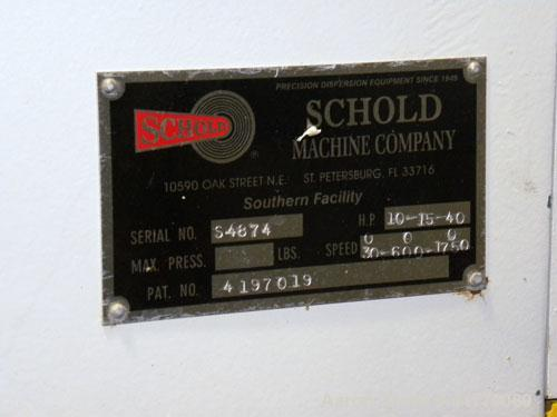 Used- Schold Concentric Triple Shaft Triaxial Disperser, 304 Stainless Steel. (1) High speed shear blade, driven by a 40 hp,...