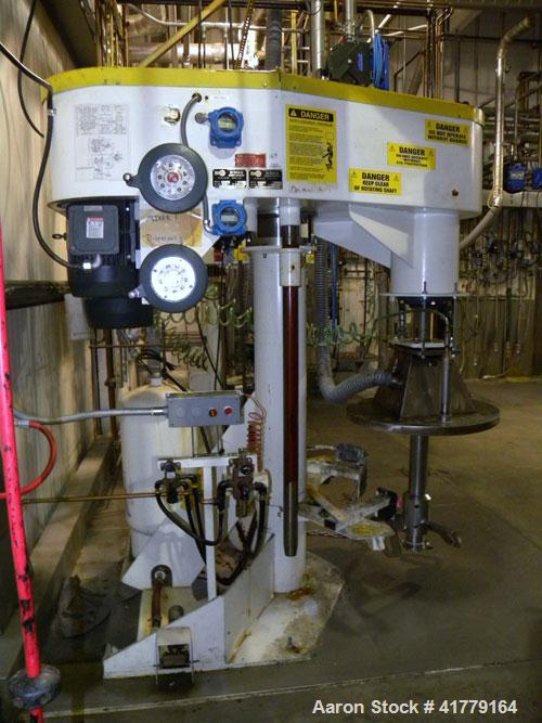 Used- Schold Co-Axial Disperser, 304 Stainless Steel. (1) High speed shear blade, driven by a 15 hp, 3/60/460 volt, 1800 rpm...