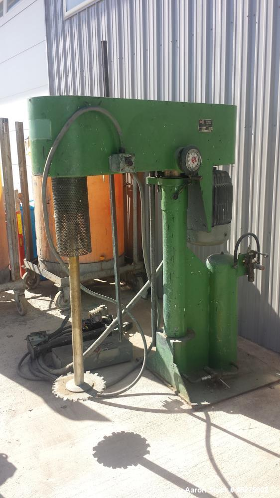 """Used-Schold Disperser Mixer. driven by a 20 HP Motor. 45"""" lift, 2"""" x 40"""" shaft, Air over oil."""
