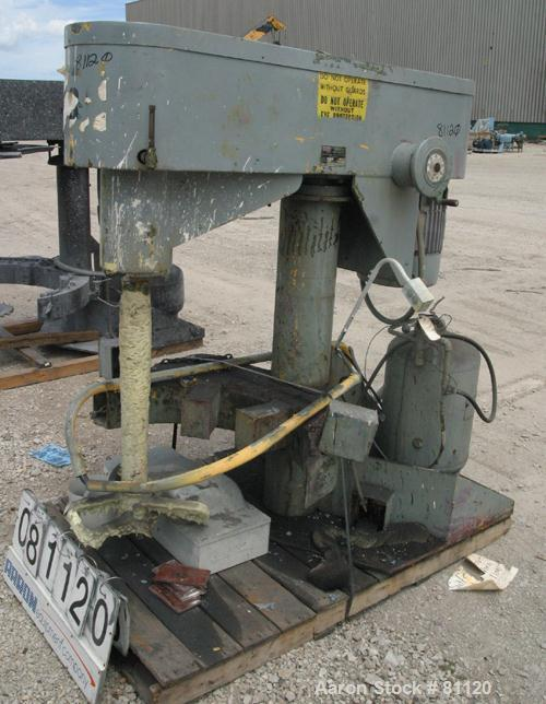 """USED: Schold dissolver. 30"""" long shaft with a bow tie style blade.Will center in an approx 18"""" diameter can. Air/oil lift, c..."""