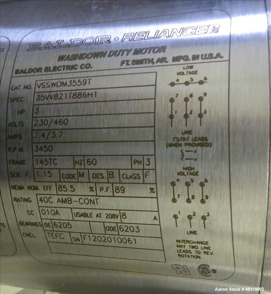 Used- Scott Turbon Laboratory Mixer, Model LA-1-1.3.1.125, 304 Stainless Steel.