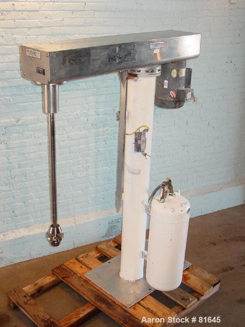 USED: Scott Turbon floor mounted mixer, model PR-MIXR4501-00, stainless steel. Approximate 10 hp motor, capacity range appro...