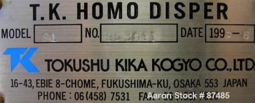 Used: Tokushu Kika Disperser, model SL