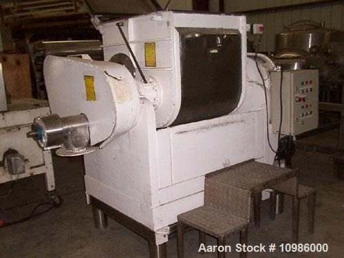 "Unused-Used: Approximately 75 gallon food grade double arm mixer/extruder. Bowl dimensions: 27"" front to back x 32"" left to ..."