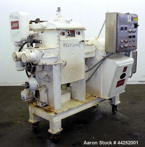 Used- AMK Class IV Double Arm Mixtruder, 15 Gallon (60 Liter) Working Capacity, 304 Stainless Steel. Carbon steel jacketed b...