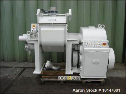 "Used- Carbon Steel AMK Z-blade mixer ""extrusion kneader"",type VI-U, ceramic coating inside, capacity ± 200 liter (53 gallon)"