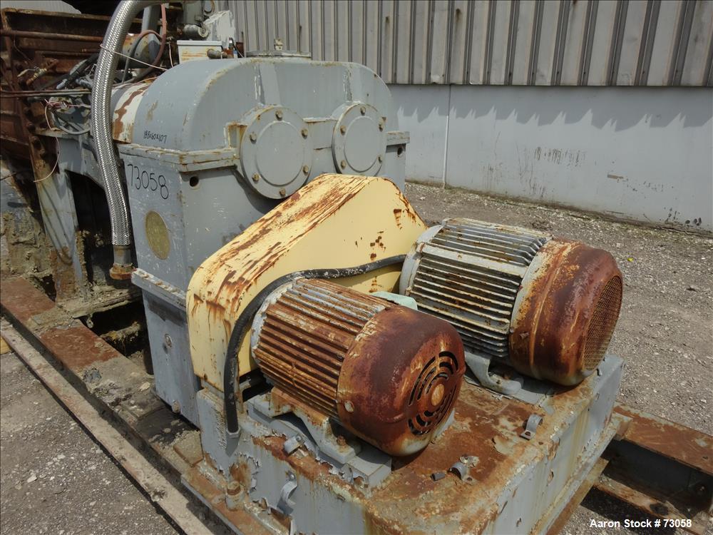 Usd: Carbon Steel AMK mixer/extruder, model VIU-250L, 66 gallon working capacity