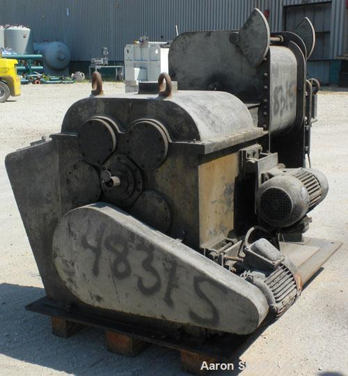 Used- Carbon Steel AMK Mixer/Extruder, Type VIU-60L, 60 Liter (15.8 Gallon) Working Capacity