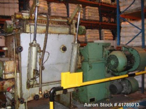 "Used-AMK Model VIU-630M Line Z-blade Mixer/Extruder, carbon steel jacketed bowl. Capacity 166 gallon (630 liter), 43.3"" x 39..."