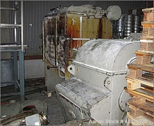 Used-AMK Mixer/Extruder, type VIU630IV. Material of construction is carbon steel on product contact parts. Capacity 166.67 g...