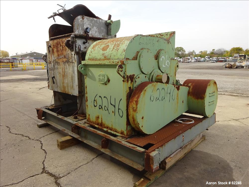 Used- Carbon Steel AMK Mixer/Extruder, Type VIU, working capacity 120 gallon (45
