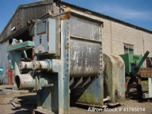 "Used-AMK Mixer/Extruder M/S, stainless steel, 198 gallon (750 liter). Body 43"" x 26"" x 50"" (1090 mm x 915 mm x 1270 mm) with..."