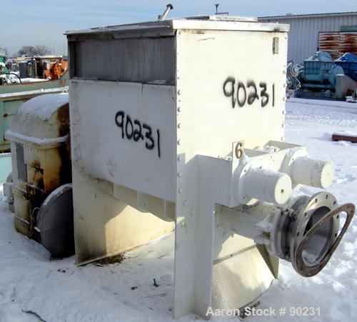 Used- Stainless Steel AMK Mixer/Extruder, 150 Gallon Working Capacity