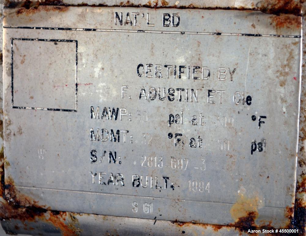 Used- F. Aoustin Mixer Extruder, Model MXE 2500, 660 Gallon