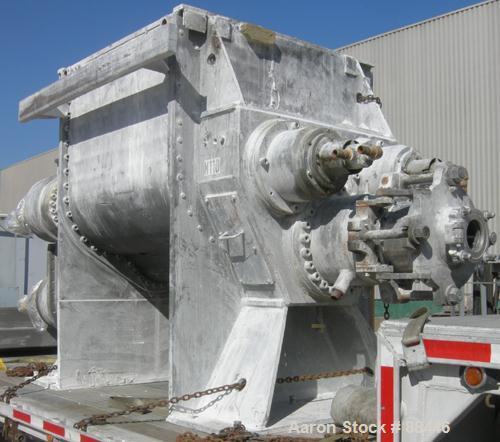 USED: Baker Perkins/Guittard Mixer/Extruder. 300 gallon working capacity, 600 total, type MHE160SL, 304 stainless steel. 304...