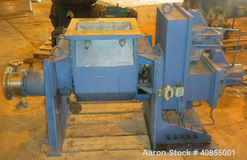 Used- IKA Maschinenbau Double Arm Mixer/Extruder, 9.2 Gallon Working Capacity (13 total), Type HKD 50-VHVX, 316 Stainless St...