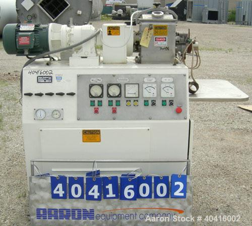 Used- Baker Perkins/Guittard lab size mixer extruder, model LEX8.  Approximately 1.33 gallon working capacity, 2.125 total, ...