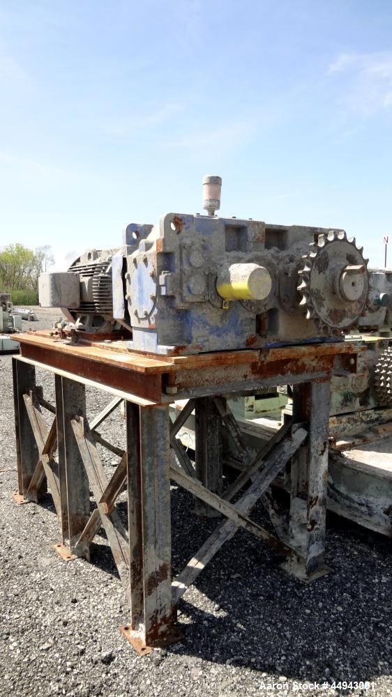 Used- MIG Kneader Rudder Mixtruder, Model NR2000.  Approximately 528 gallon work