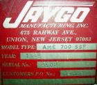 USED- Jaygo Mixtruder, Model AME700SSF, Carbon Steel. Approximate 115 gallon working capacity, 225 total. Jacketed bowl appr...