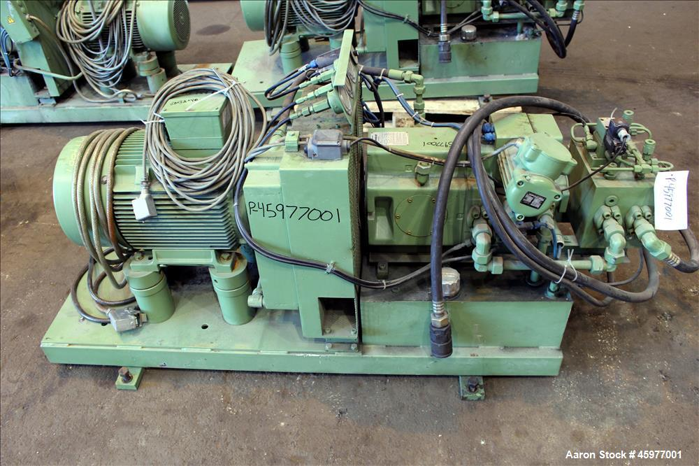 Used- Werner & Pfleiderer Mixer Extruder, Type UK80-AES, 316 Stainless Steel on product contact parts. Working capacity 21.2...