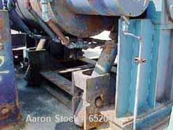 USED: Aaron Process 600 gallon, carbon steel, sigma blade, double armmixer. With spherical roller bearings, twin hydraulic t...