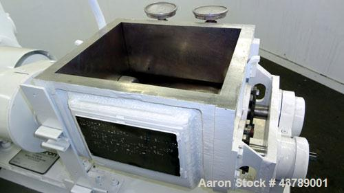 Used- Aaron Process Machinery Lab Size Double Arm Mixer, 2 gallon working capaci