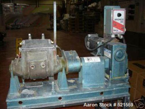 USED: Aaron Process 1 gallon sigma blade mixer, model LNG1-2. Total capacity 2.3 gallons, working capacity 1 gallon. New 2 h...