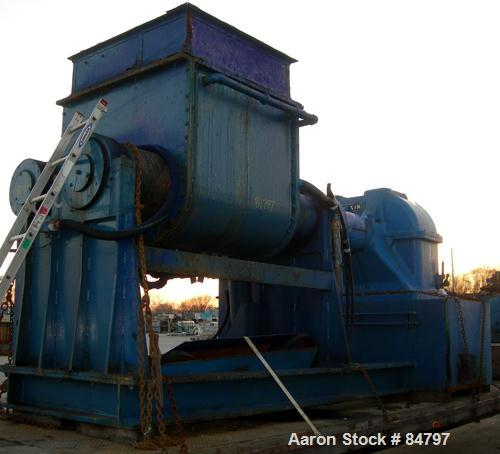 Used- Carbon Steel Aaron Process Double Arm Mixer, 300 Gallon Working Capacity