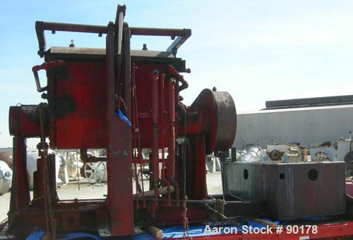 Used: Carbon Steel Aaron Process Double Arm Mixer, 500 gallon working capacity