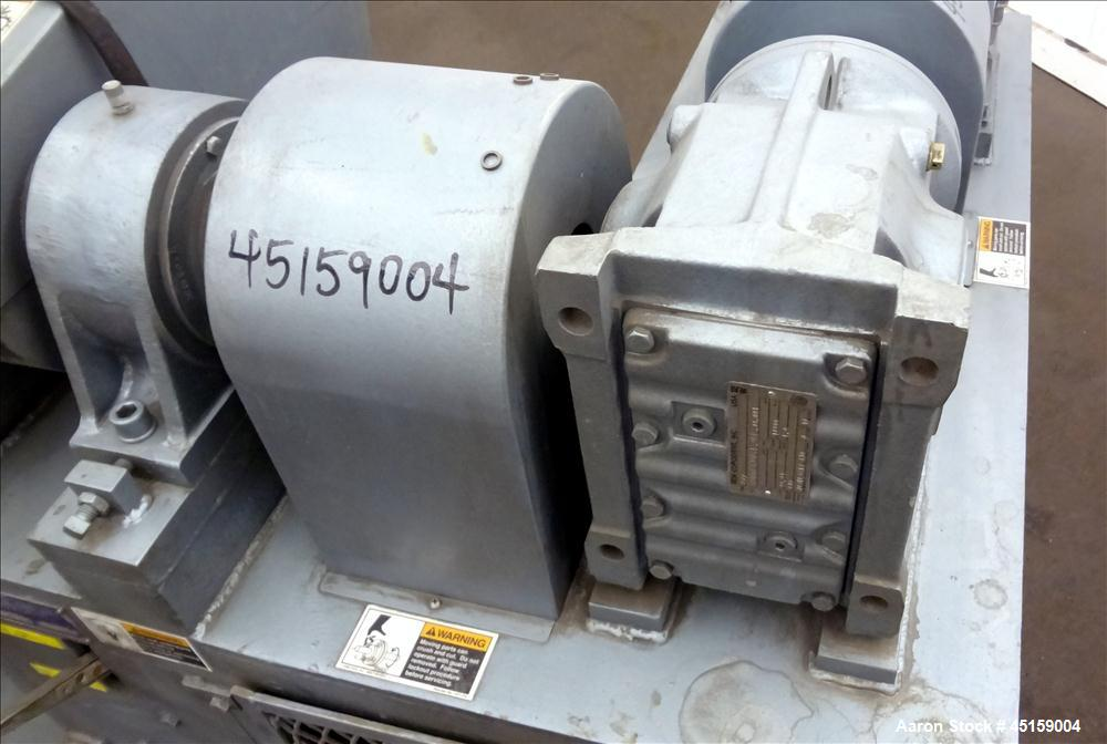 Used- Paul O. Abbe Double Arm Mixer, Model SBM-10, 316 Stainless Steel. (10) Gallon operating capacity (20 total). Carbon St...