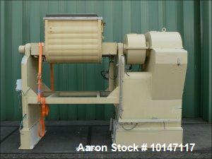 Used- Stainless Steel AMK II-U Z-Blade Mixer, Maximum working capacity 166.5 gallons (630 liters