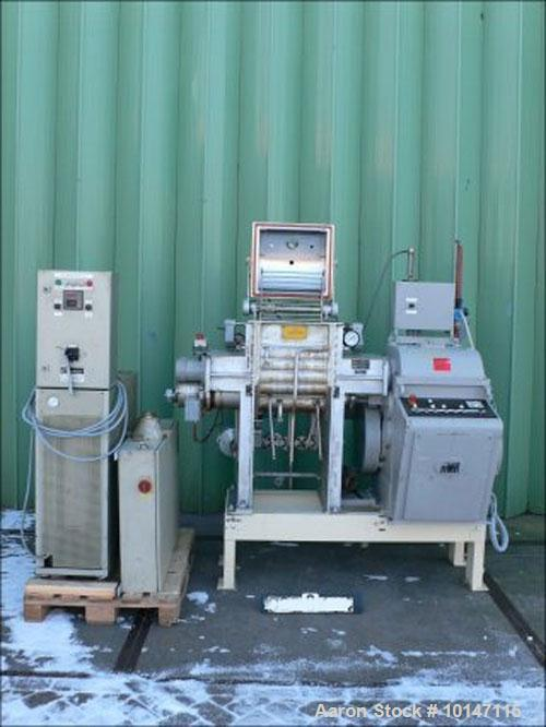 Used-AMK V1 U 40 Z-Blade Mixer, stainless steel construction.  Maximum capacity 10.5 gallons (40 liters).  (1) Jacket 2.7 ga...
