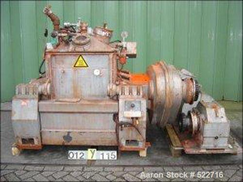 USED: APV Chimie Equipment SA double arm mixer, type M-40SL. Carbon steel, total capacity 105 gallon (400 liter), working ca...