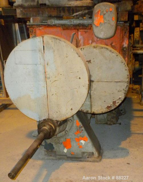 """USED: Baker Perkins model #15 double arm sigma blade mixer, 100 gallon capacity. Steel jacketed bowl 33"""" left-right x 38"""" fr..."""