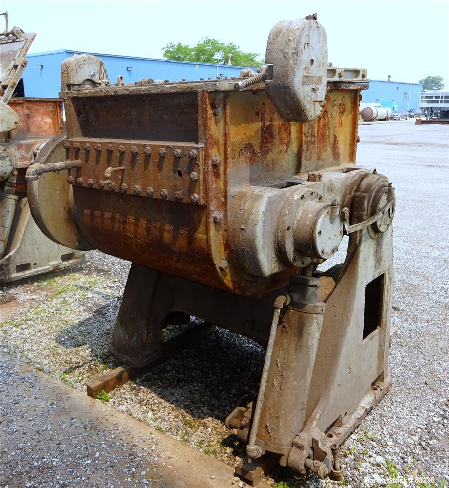 Used: Baker Perkins model #15 double arm sigma blade mixer, 100 gallon capacity