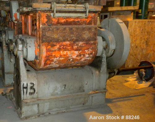 Used: Baker Perkins model #15 double arm sigma blade mixer, 100 gallon capacity