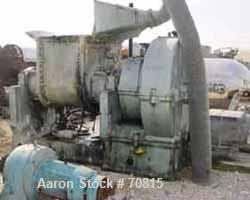 USED: Baker Perkins double arm mixer, carbon steel/chrome plated, size16VUEM. 150 gallon working capacity, 225 gallon total....