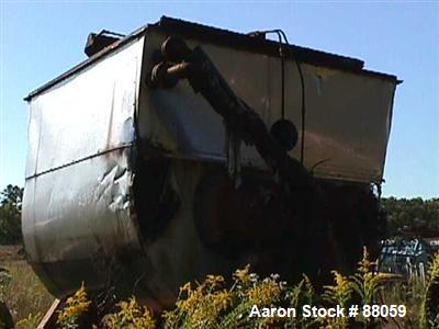 Used- Carbon Steel Baker Perkins Double Arm Mixer/Shredder, Model 23JWUMM, 900 Gallon working capacity