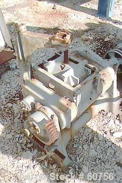 """USED: Baker Perkins Double Arm Mixer,  2 1/2 gallon working capacity, carbon steel.  Tangential dispersion blades. Bowl 8"""" l..."""